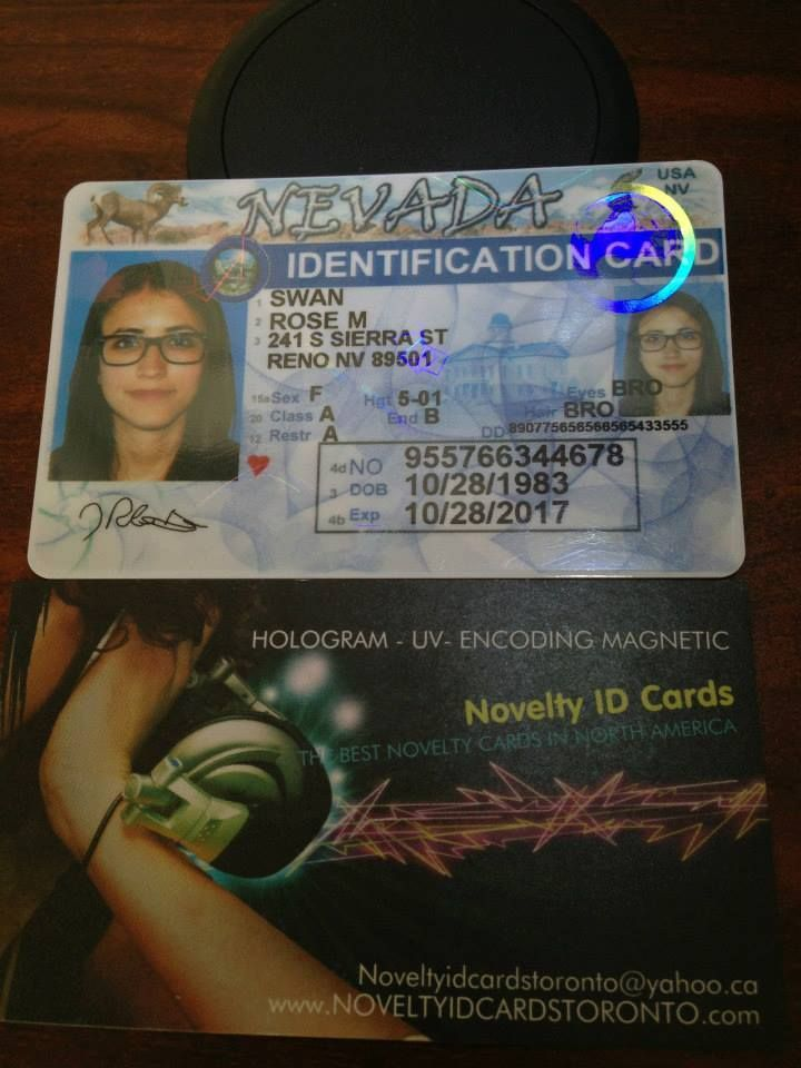 This Is Our Fake Novelty State Nevada Id Sample Visit Http Www Theidman Com To View All Our Ids Or Http Www Facebook Com Fakeidcards Nevada Novelty Reno