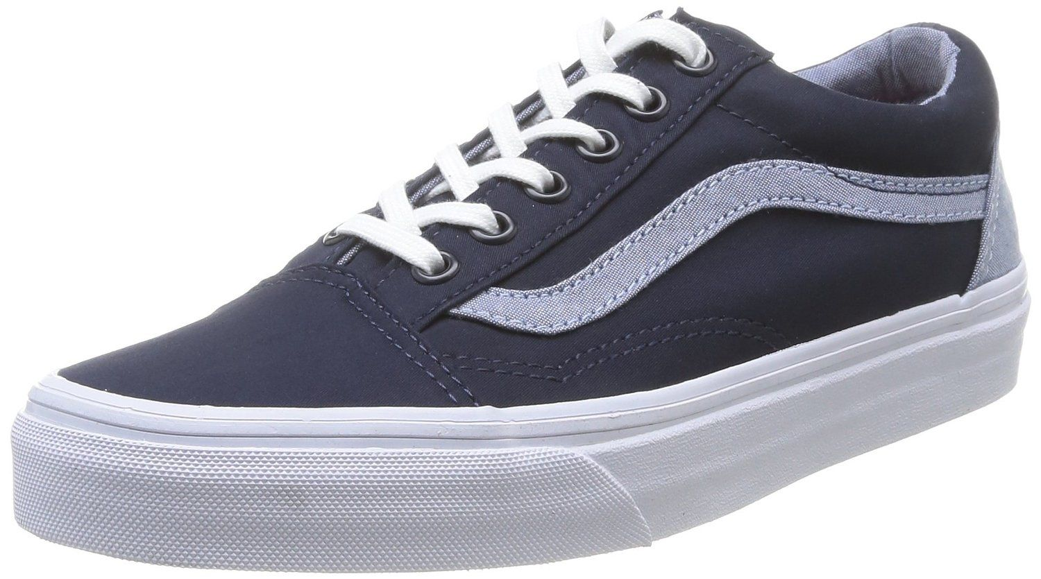 ef9ba348e5 Vans Men s Old Skool Chambray Contrast Sneakers 45 Blue     You can find  out more details at the link of the image.