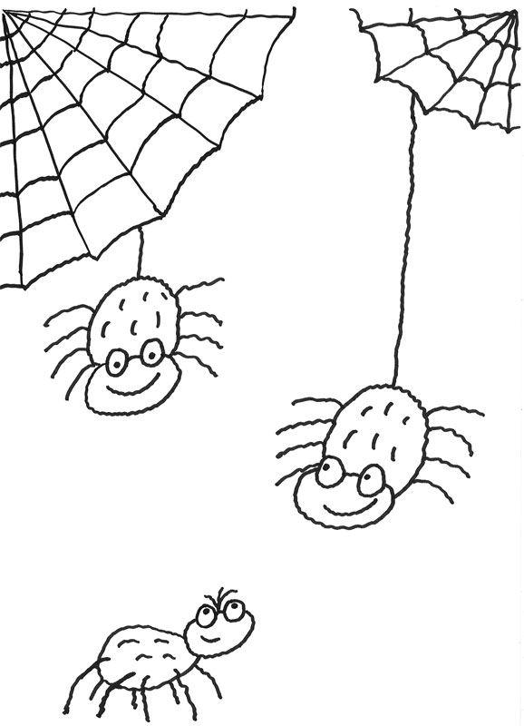 Spinne ausmalbild - Ausmalbilder für kinder Ausmalbilder