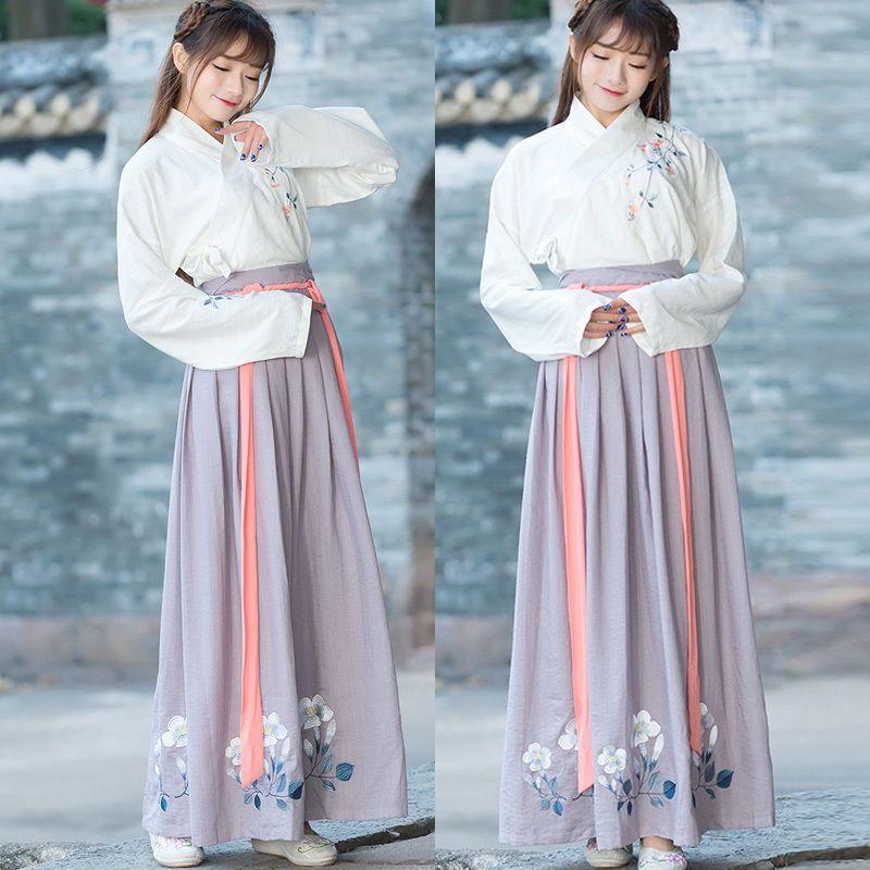 a21137e87 eBay #Sponsored Chinese Ancient Traditional Hanfu Women Fusion Modern  Hanbok Tang Dynasty Consum