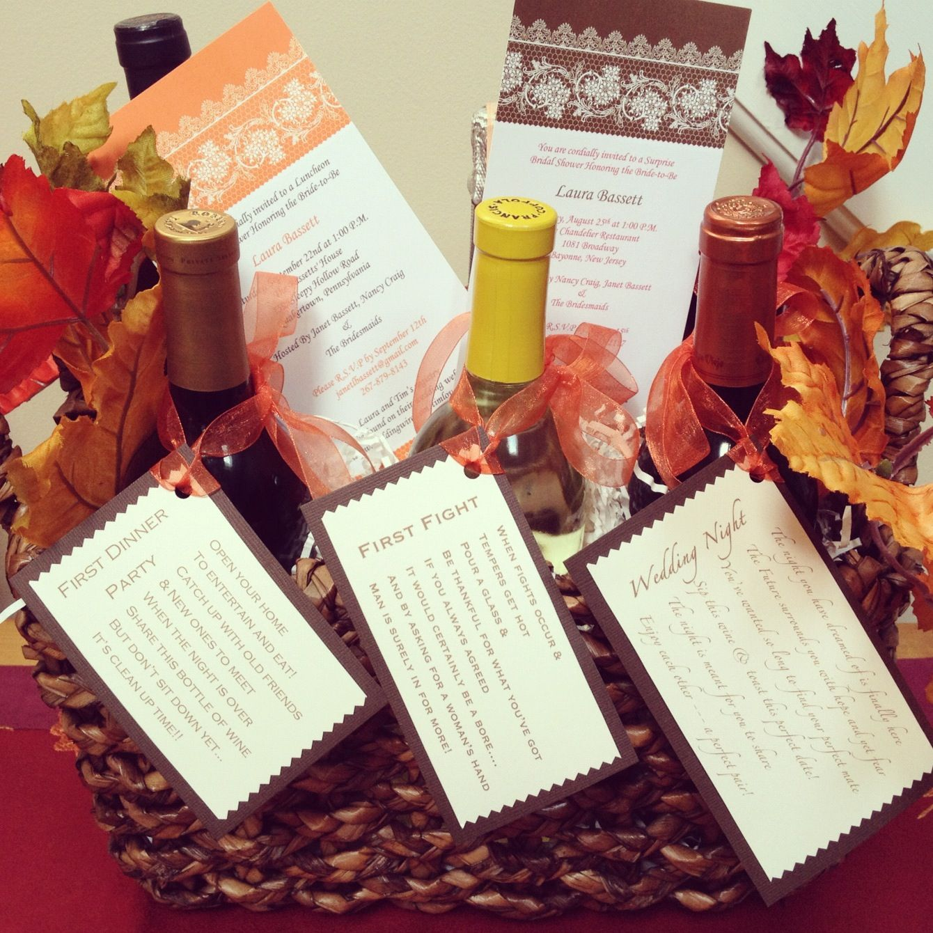 Pin By Michelle Dee On Cute Gifts Wedding Wine Gift Wedding Gift Wine Basket Wine Baskets