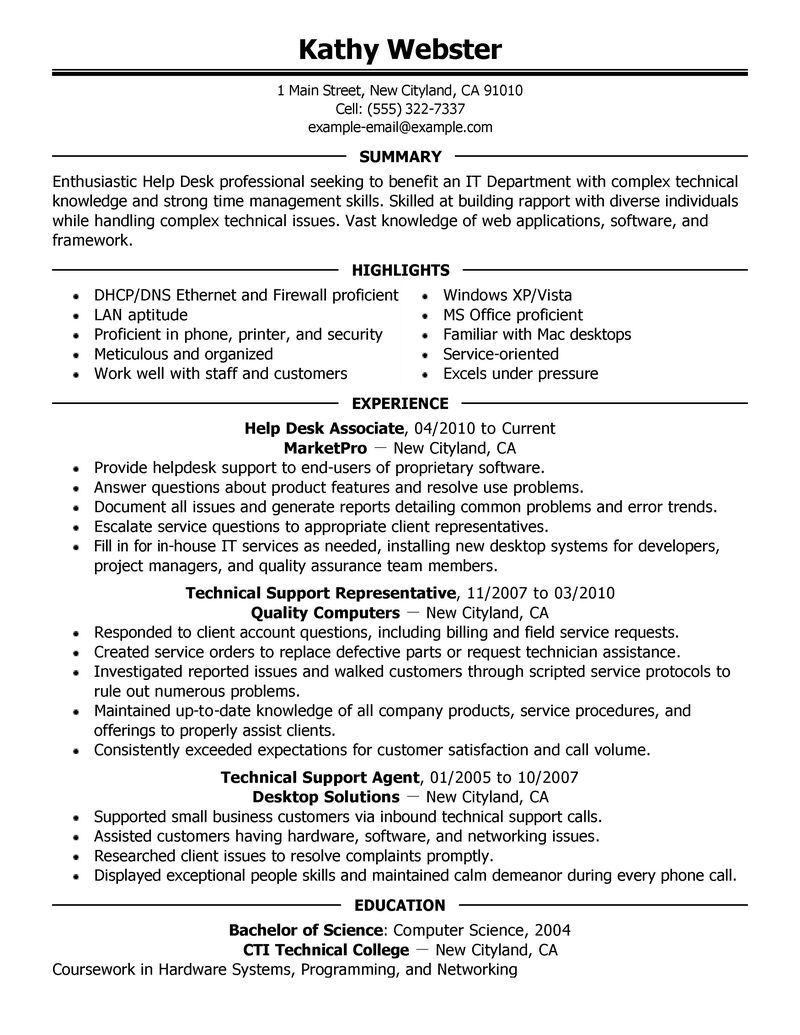 Front Desk Resume Sample Cover Letter Help Desk Managerjack Of All Trades And Looking For