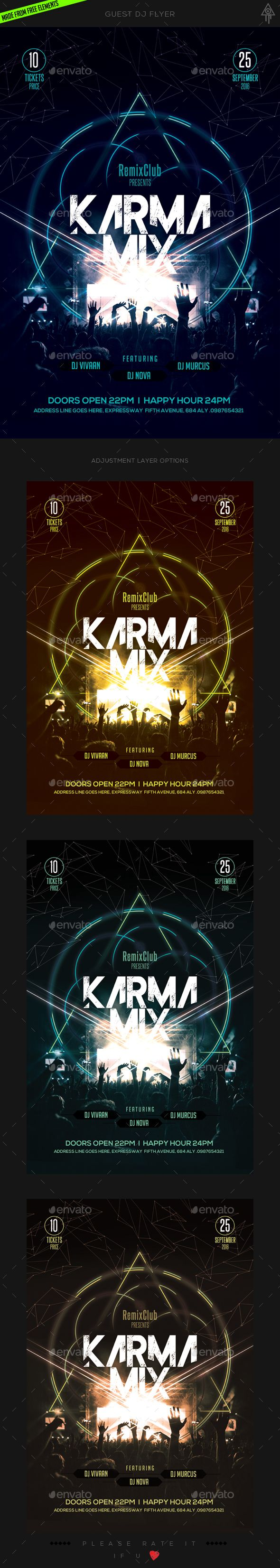 guest dj flyer dj event flyers and flyer template