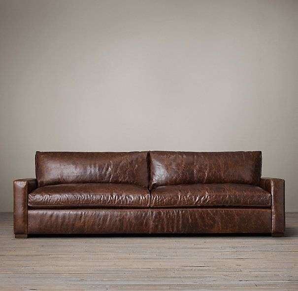 The Pee Maxwell Leather Sofa Restoration Hardware