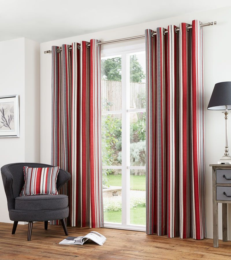 Melrose Red Ready Made Curtains