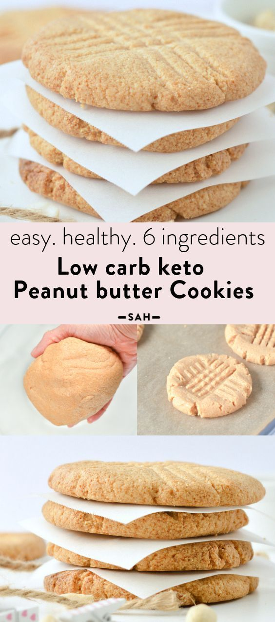 Low Carb Peanut Butter Cookies Almond Flour Easy Healthy Keto
