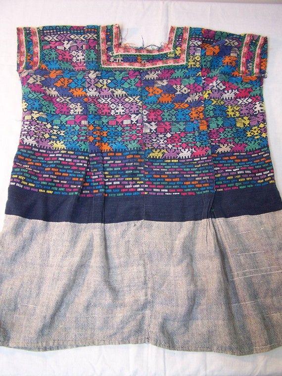 Huipil Woven Guatemala Blouse Indigenous Mayan | U Sew & Sew | Pinterest