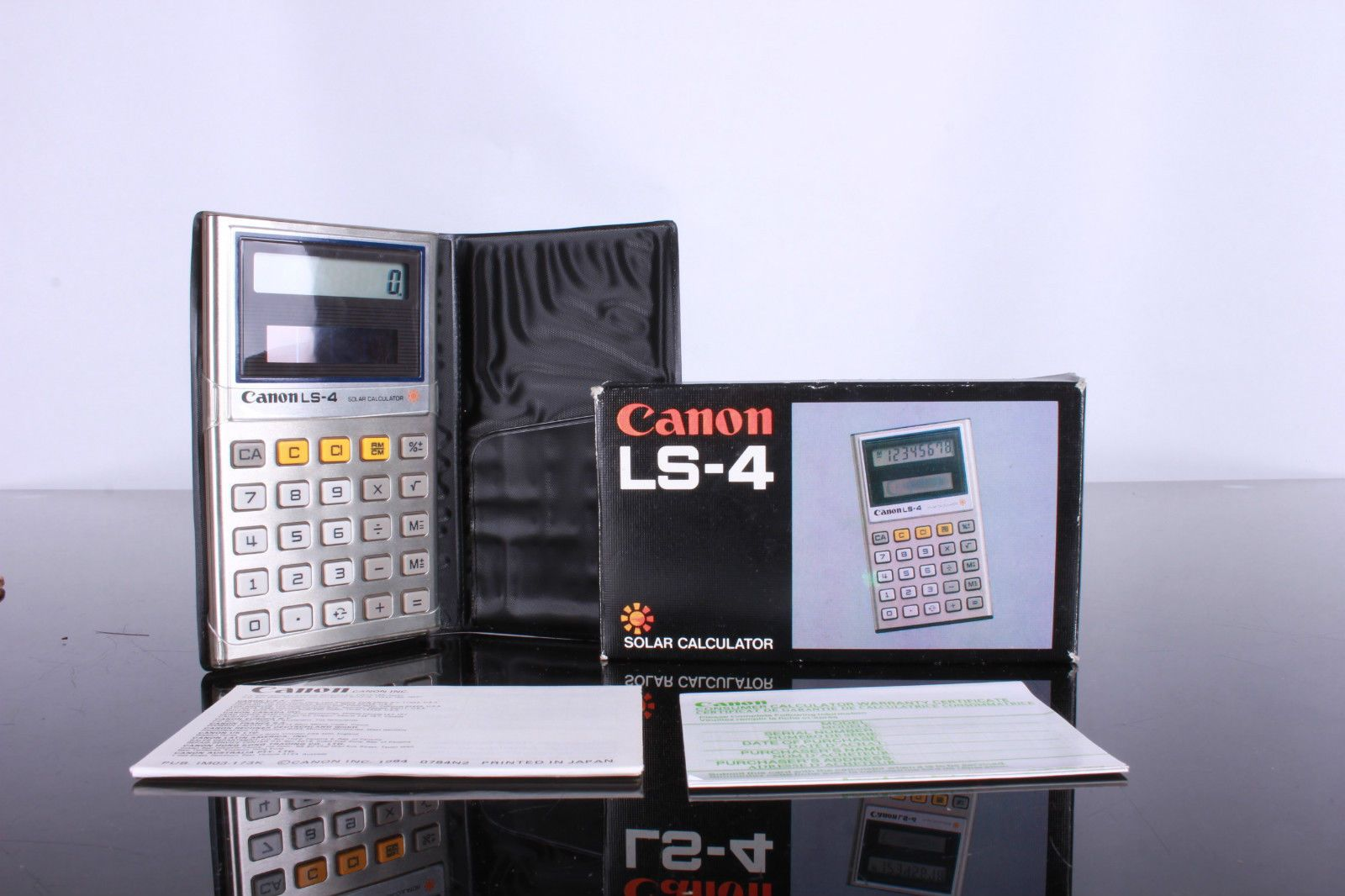 Vintage Canon LS4 Solar Calculator New in Box Tested and