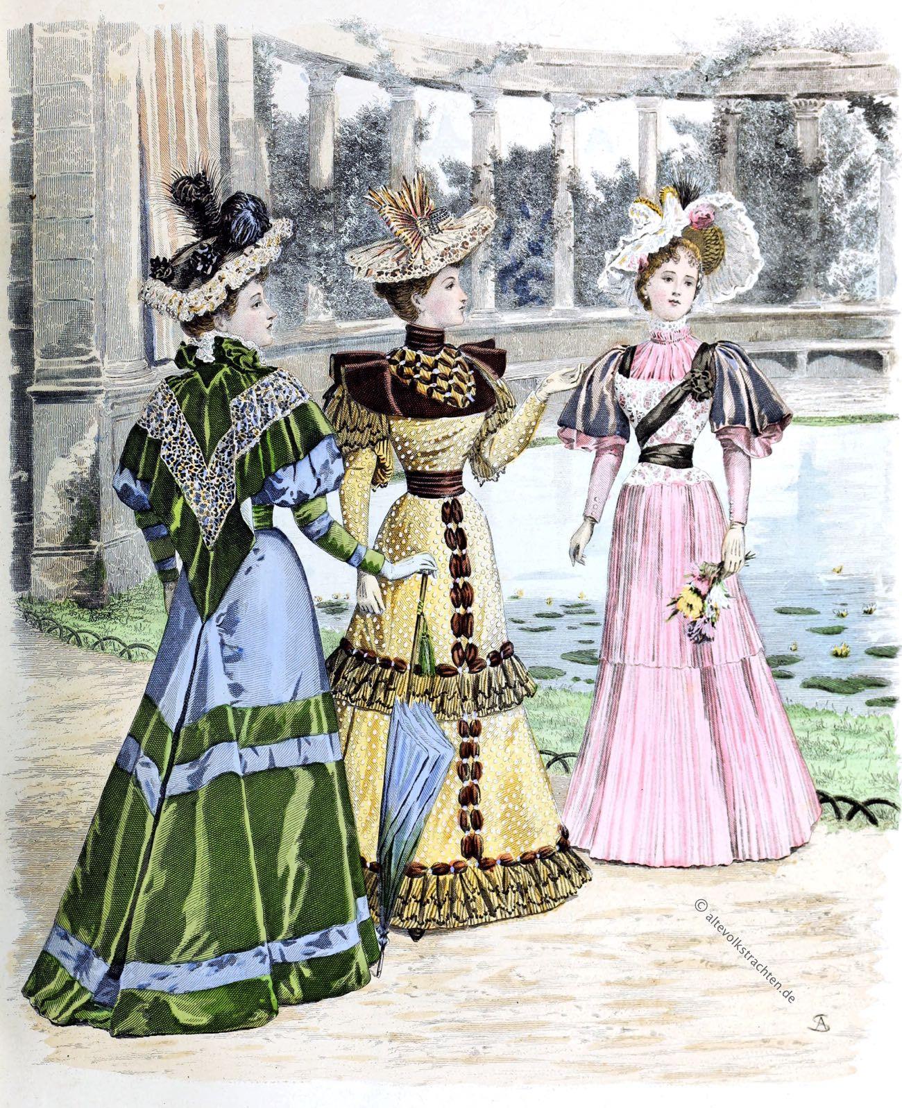 latest paris fashion. the queen 1893. english fashion