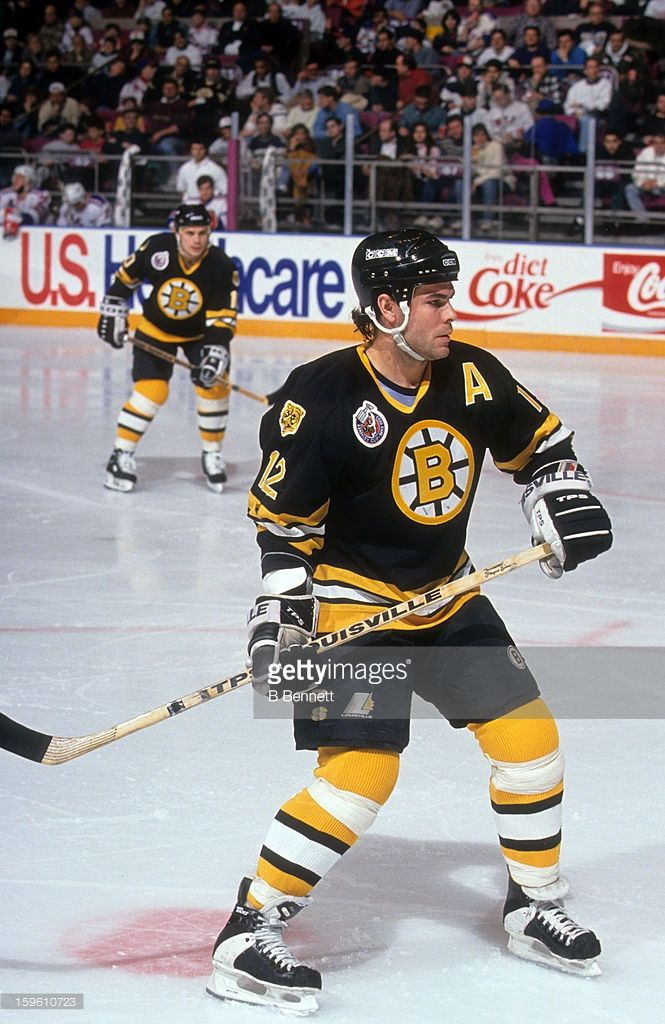 Adam Oates Of The Boston Bruins Skates On The Ice During An Nhl Game Boston Bruins Bruins Hockey Bruins