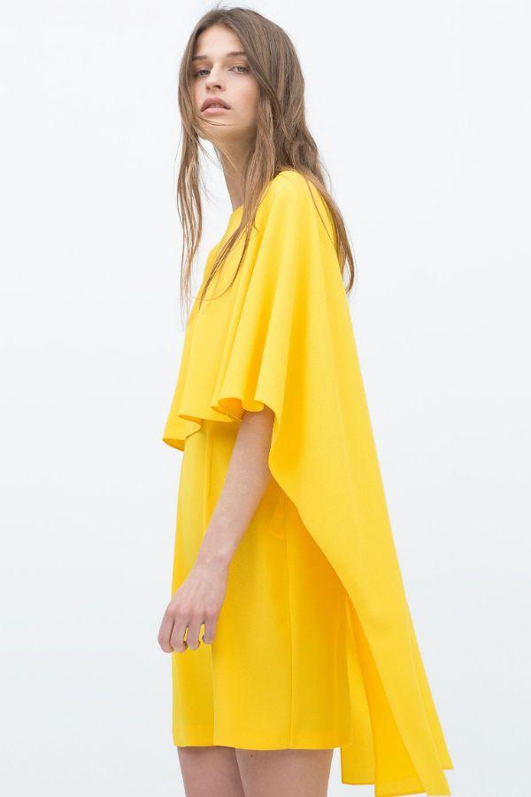 Robe jaune de Zara