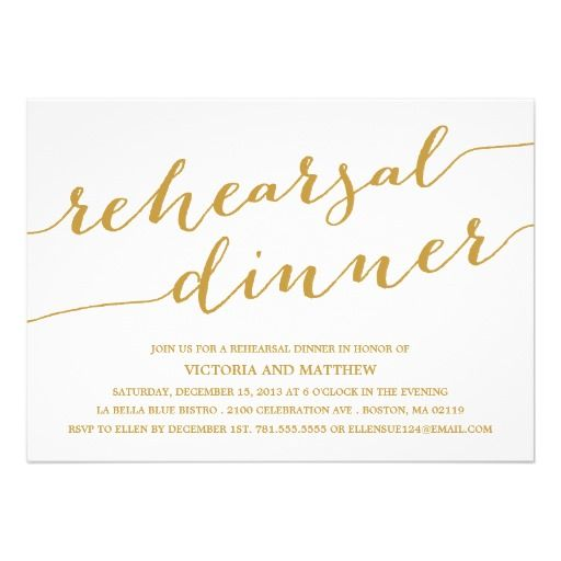 modern calligraphy rehearsal dinner invitation for anne