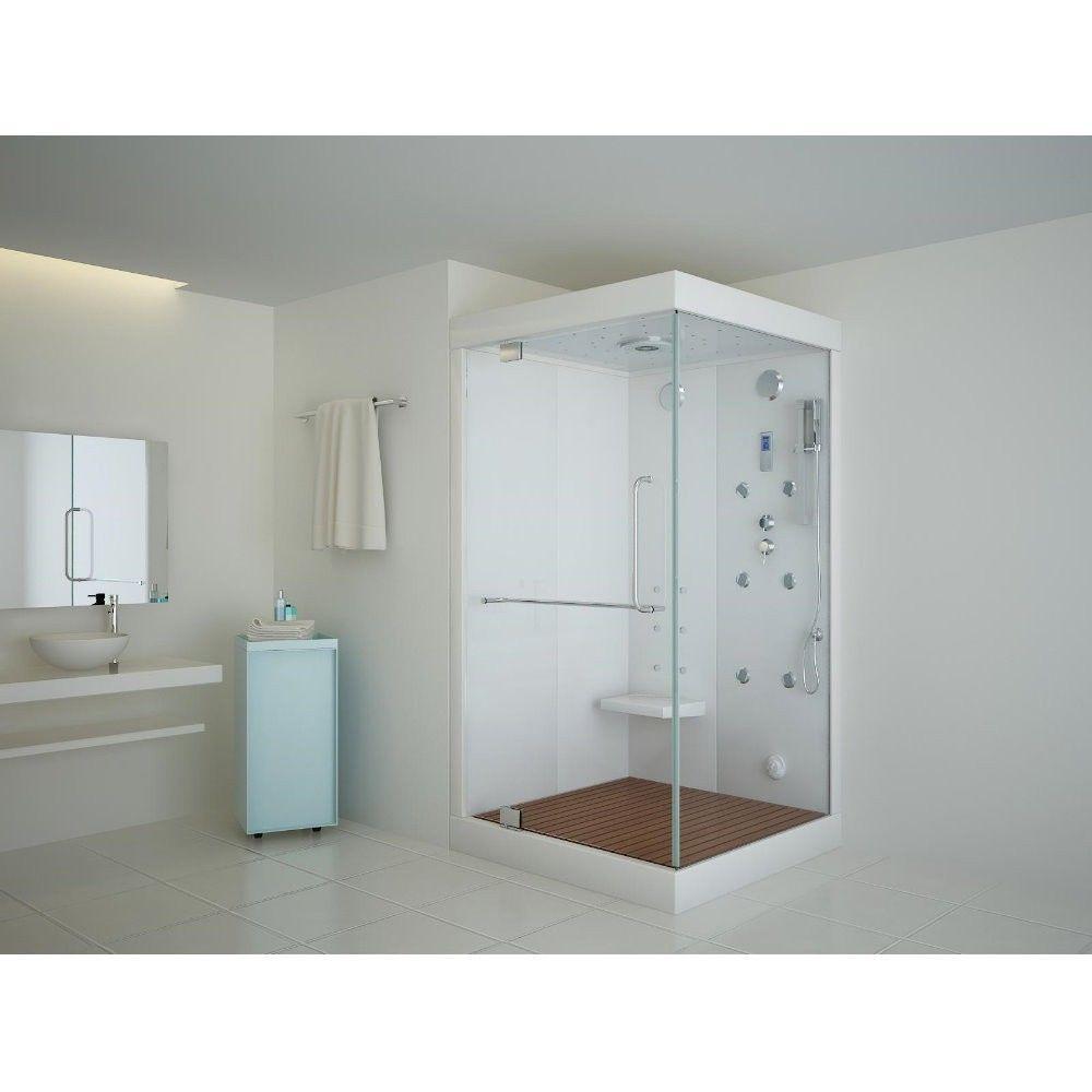 dusche dampfdusche duschkabine fertigdusche dampfbad dampfsauna sauna dampf 60 c in heimwerker. Black Bedroom Furniture Sets. Home Design Ideas
