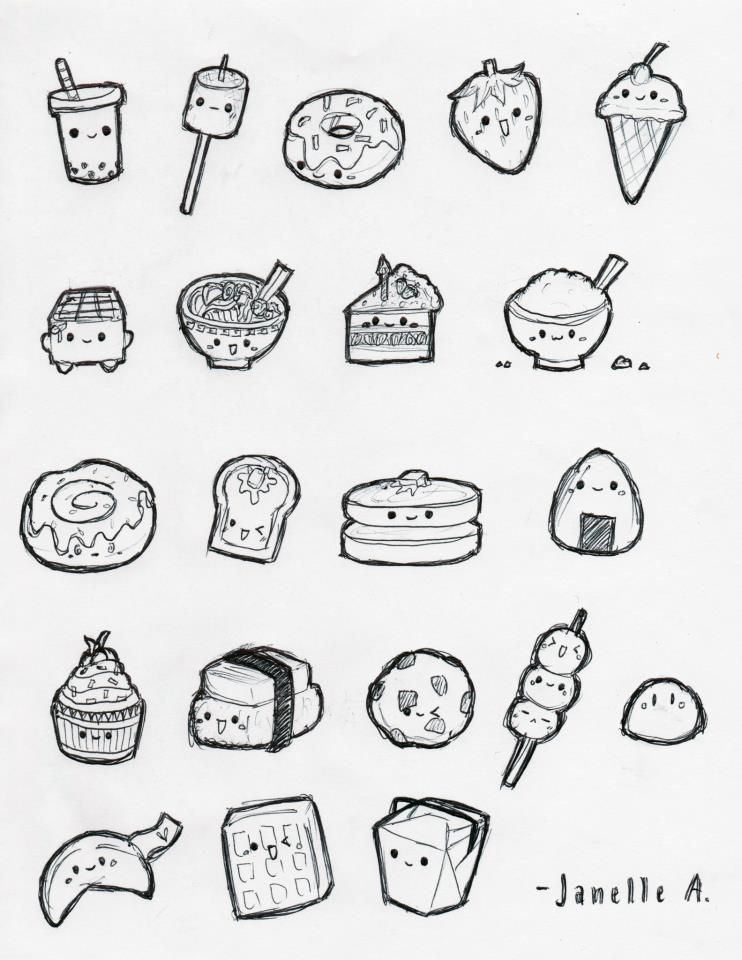 Cute Food By Janellelovesudon With Images Cute Food Drawings