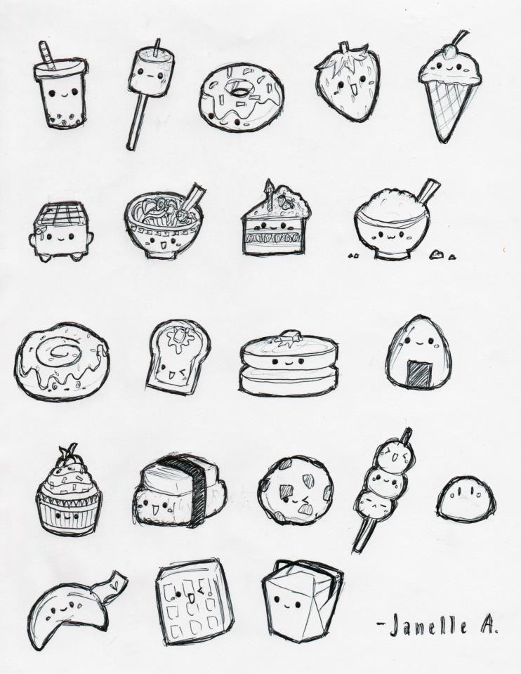 Kawaii Food Drawings : kawaii, drawings, JanelleLOVESudon, DeviantART, Drawings,, Drawings, Boyfriend,, Kawaii