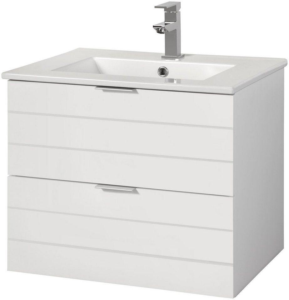 Waschtisch Luzern Breite 60 Cm Waschbeckenunterschrank Mit Viel Stauraum Online Kaufen Otto Bad Set Waschtisch Waschbecken