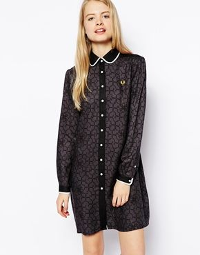 Fred Perry Geo Floral Peter Pan Dress