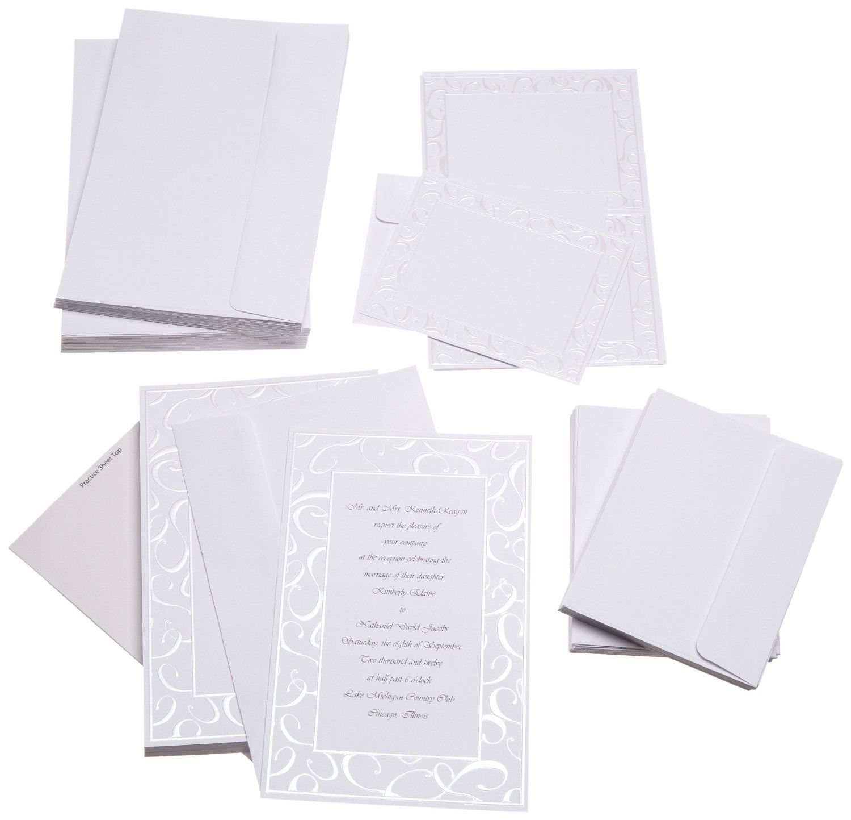 Silver Wedding Invitations Amazon: Cheap Wedding Invitations For $20 ♥ ♥ ♥ Kit Includes: 50