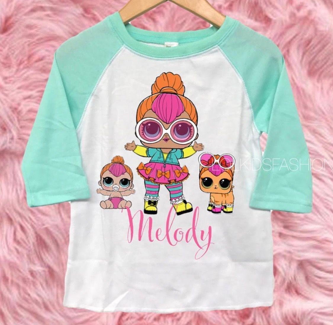 Neon QT LOL Family Birthday 6th Parties Shirts Girl