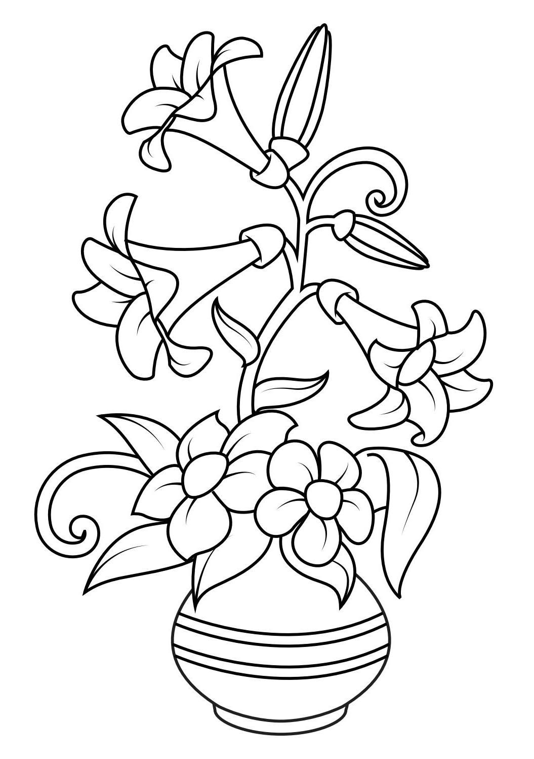 Flower Coloring Pages - Printable Coloring Book For Kids | Coloring ...