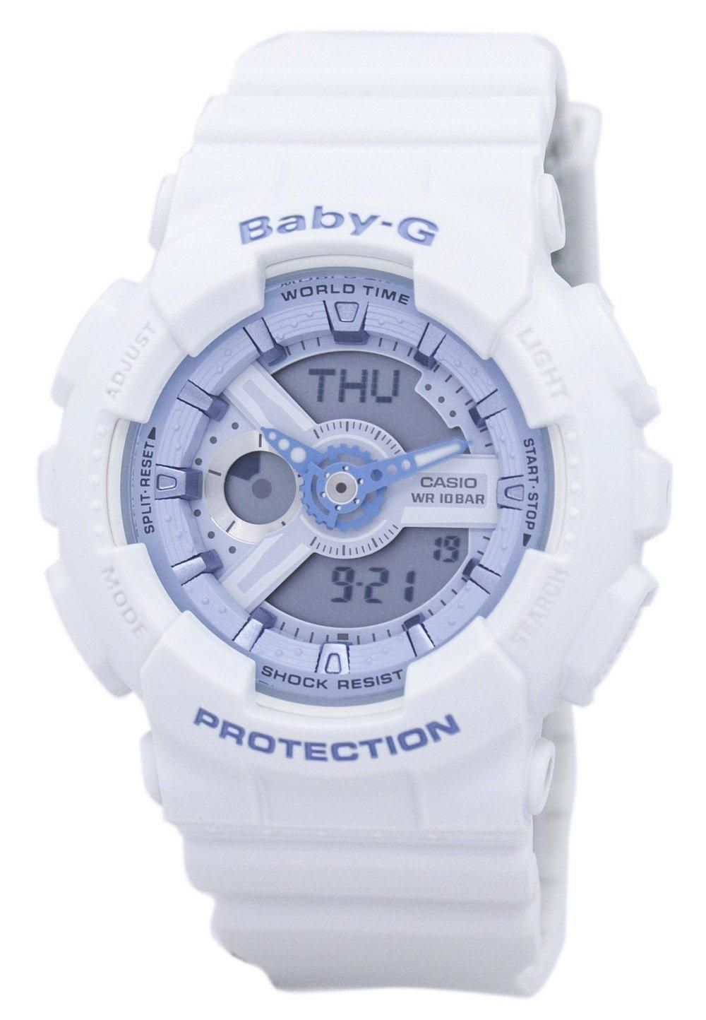 Casio Baby G Shock Resistant World Time Analog Digital Ba 110be 7a