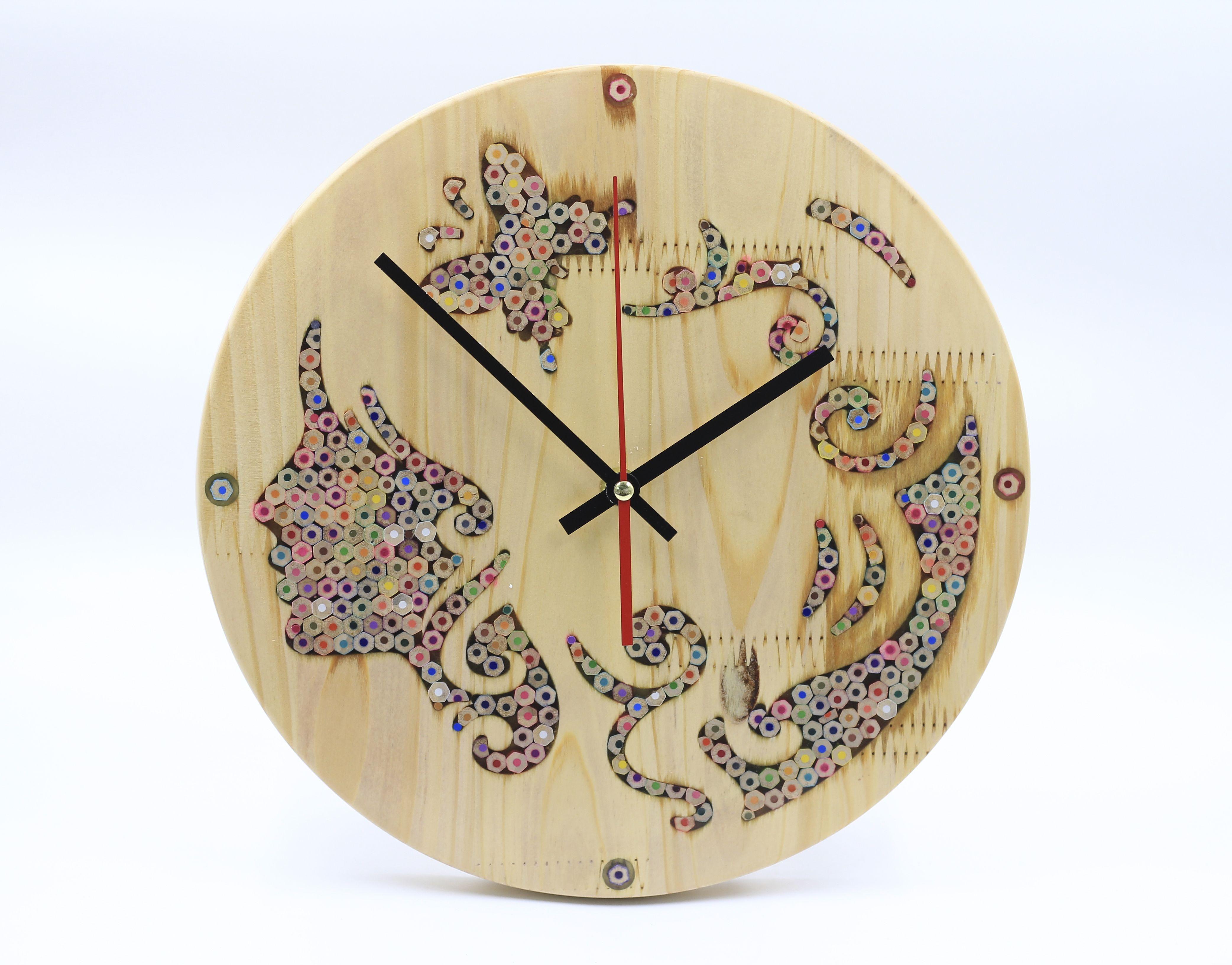 Pin by Nguyên Mộc Decor on Wall Clock - Đồng Hồ Gỗ Treo Tường ...