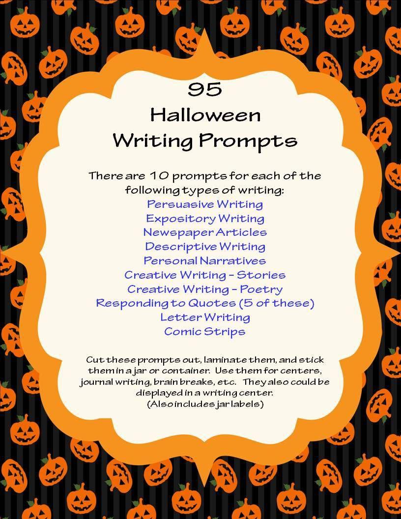 Halloween Descriptive Essay Writing Prompt Narrative Prompts