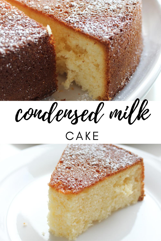 Condensed Milk Cake In 2020 Condensed Milk Recipes Desserts Milk Recipes Dessert Condensed Milk Cake