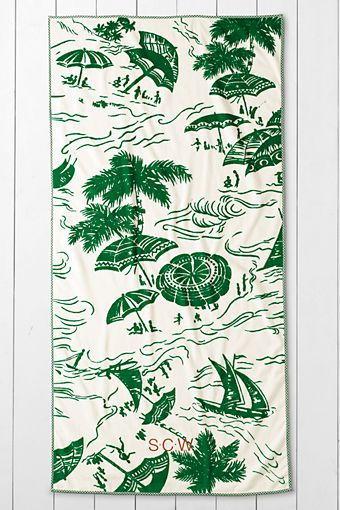 Lands End Beach Towels.Vintage Island Print Beach Towel From Lands End 35