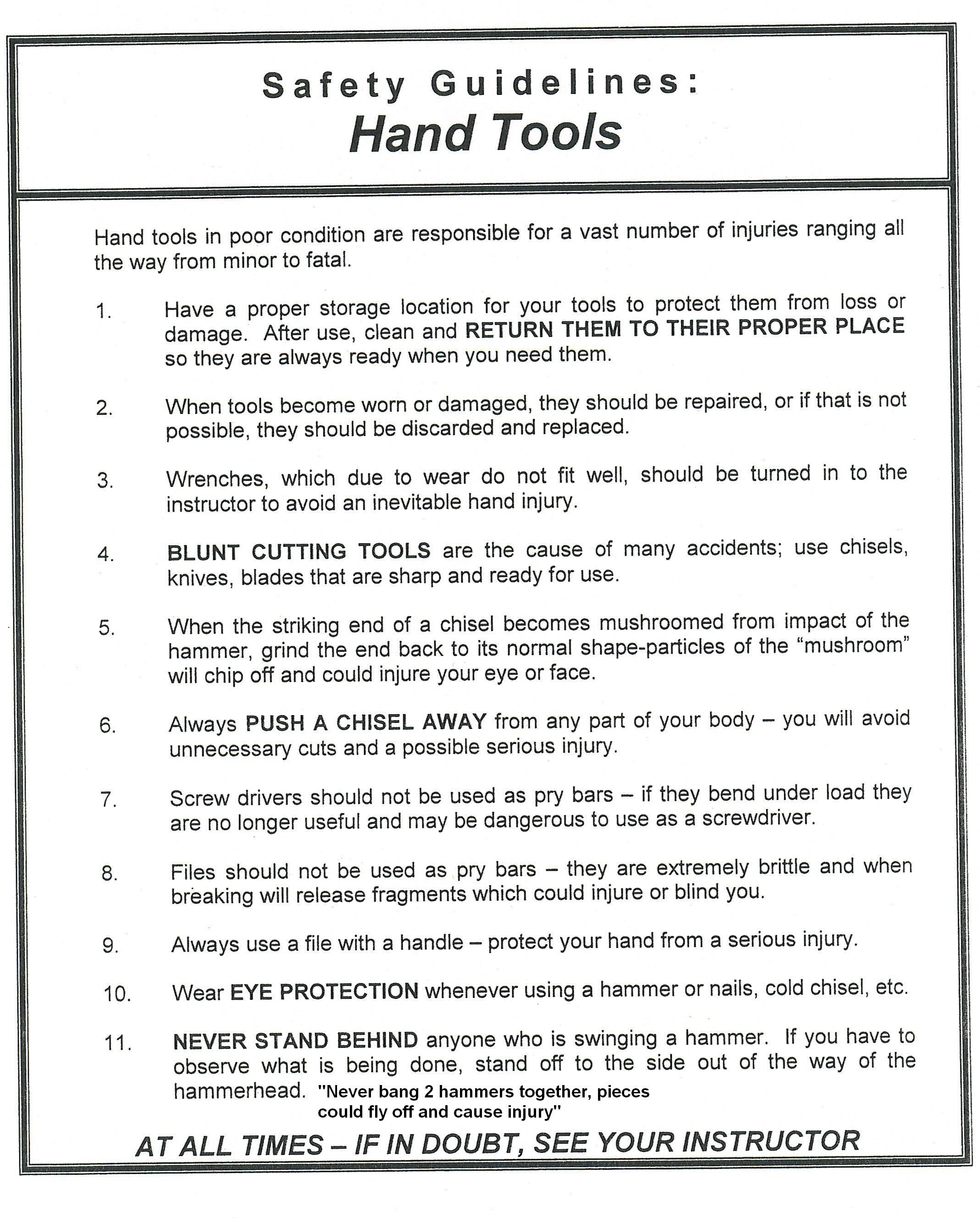 Safety hand tools.jpg (2137×2657) Hand tools, Safety