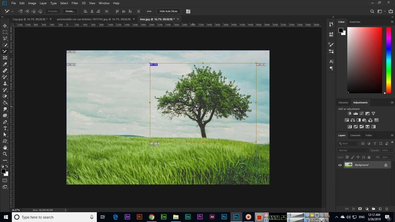 Slice Tool and Slice Select Tool Adobe CC 2019