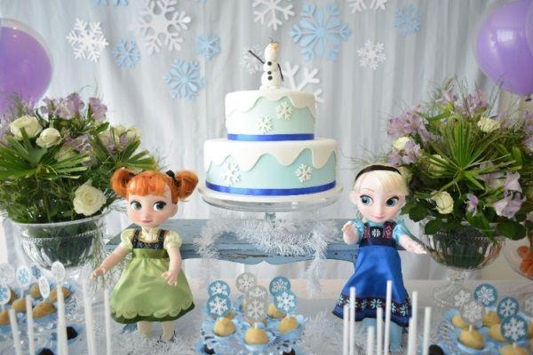 Decoração da festa infantil com tema Frozen: ideias e fotos - Casa e Festa