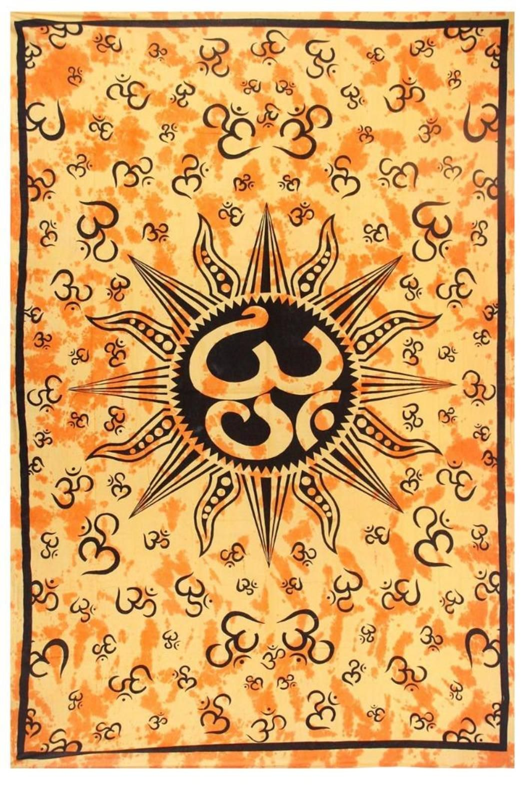 A Little Bit Hippy Om Sun Tapestry | Pinterest | Tie dye tapestry ...