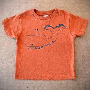 Oh Whale Toddler Tee Orange, now featured on Fab.