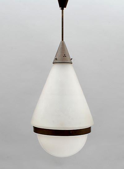 Giso Gispen Plafond Lamp Bovenste Ballon Matglas Onderste Ballon Gisoglas Ontwerp W H Gispen 1890 1981 1928 Uitvoering Gispen Lamp Ceiling Lamp Ceiling Lights