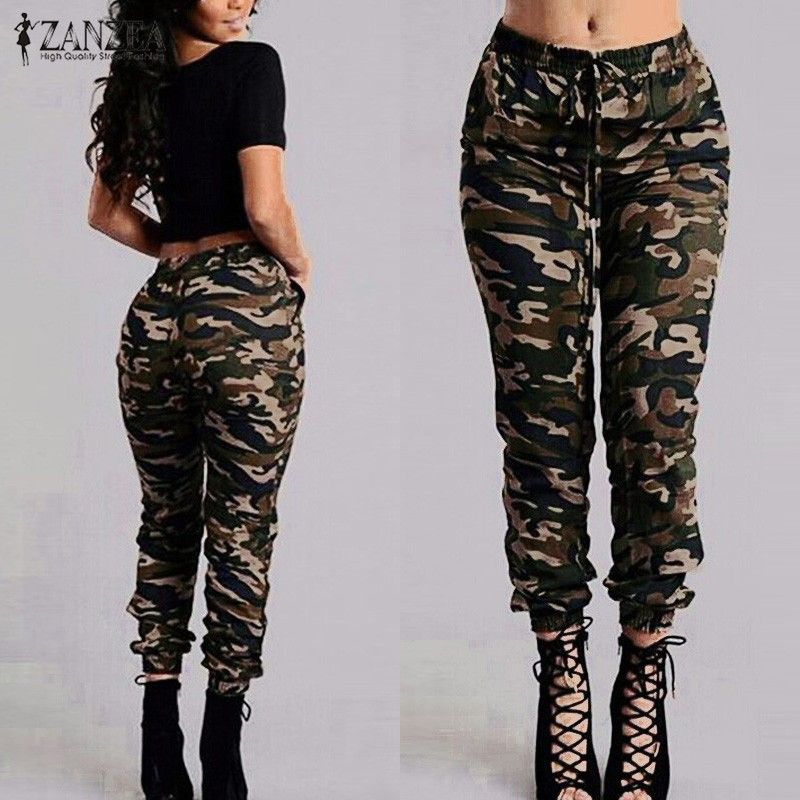 Goede 16.29] 2017 Autumn Army Cargo Pants Women Camouflage Printed ZU-78