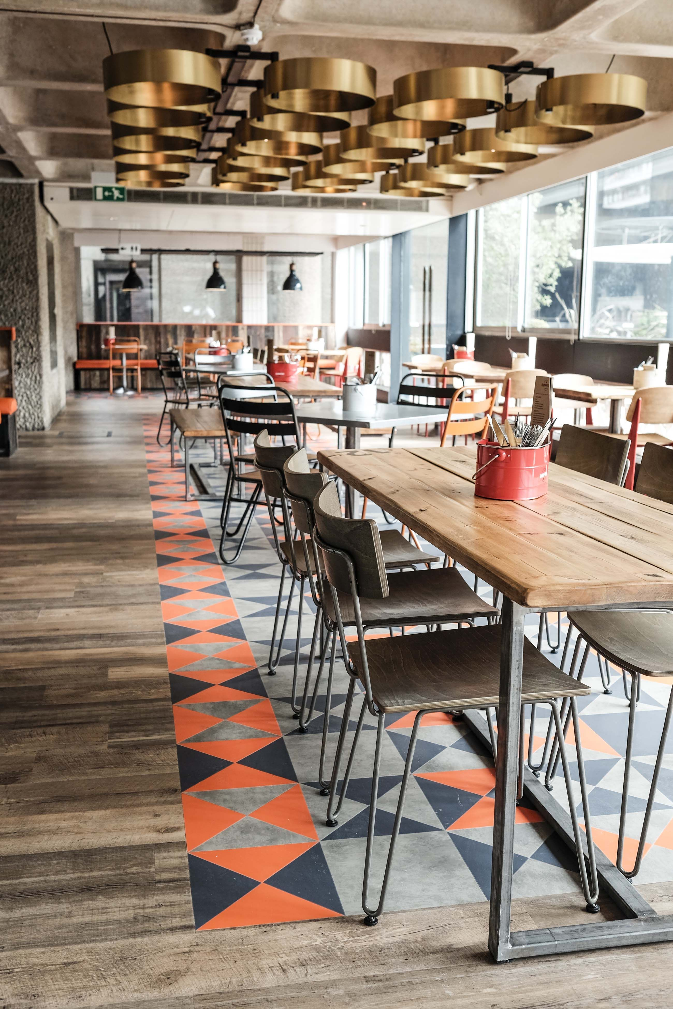 Bonfire Restaurant @ The Barbican Centre, London. Designed by ...