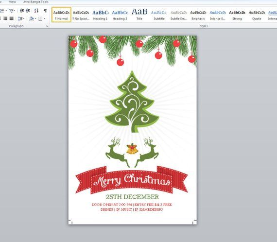 Merry Christmas Flyer Template Christmas Holiday Party