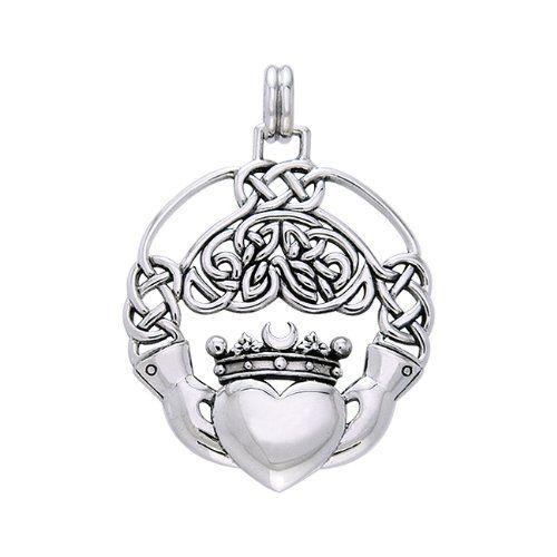 Cari Buziak Celtic Claddagh .925 Sterling Silver Pendant Peter Stone