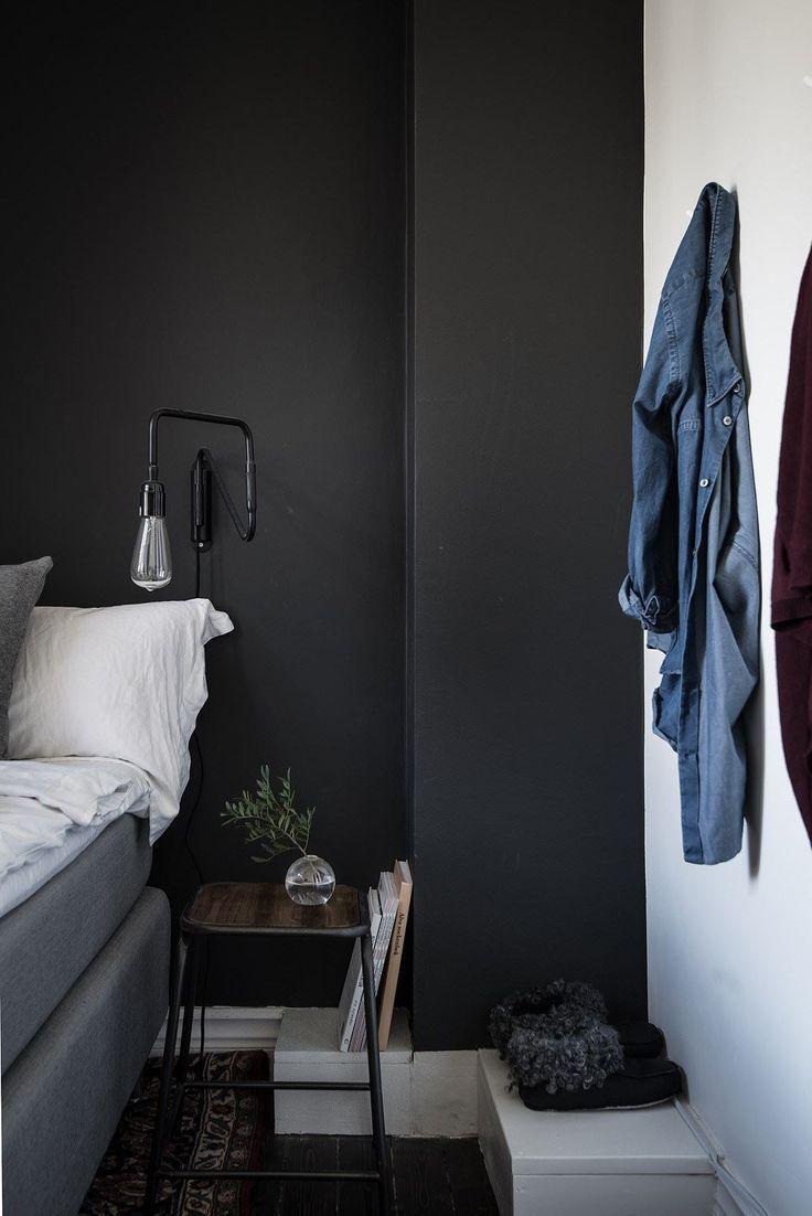 Schwarze Schlafzimmer Wand Dekoration Für Ein Schönheits Aussehen #coole  #holzoptik #tapete #jugendliche #wandgestaltung #ideen #jugendzimmer ...