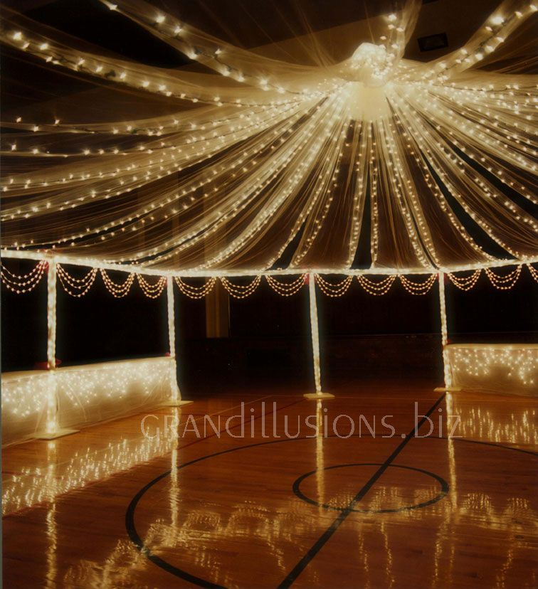 Evening Wedding Reception Decoration Ideas: Lighting With Cloth- I WANT THIS!!!