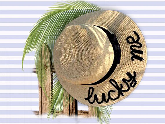 805b650c6 Lucky Me Trilby Hat Custom Boater Hat Personalised Beach   Summer ...