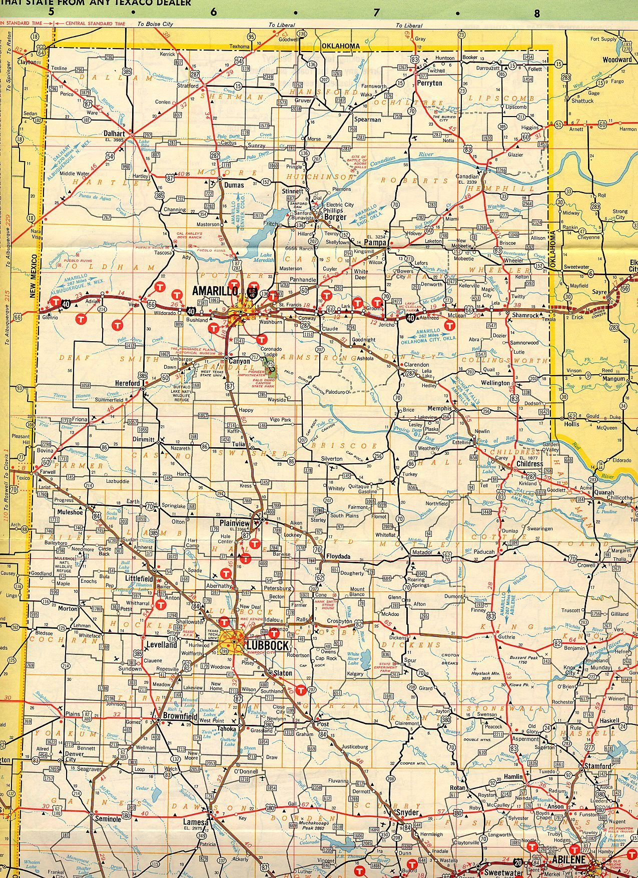 Map of the Texas Panhandle | G&G 60th Anniversary Party | Pinterest ...