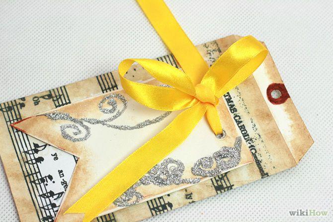 Haga una etiqueta del regalo de la vendimia Paso 9Bullet4