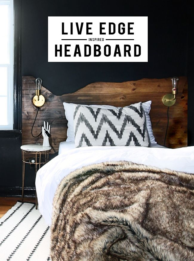 Live Edge Inspired Headboard Tutorial (Hunted Interior