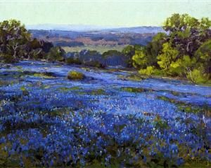 Bluebonnets, Late Afternoon, North of San Antonio - Robert Julian Onderdonk