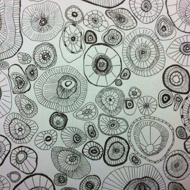 Sketch For A Batik Pattern On Cotton #seashells