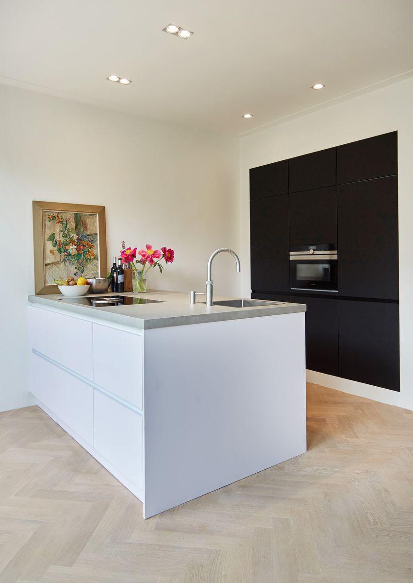 Matte Black And Alpine White Kitchen Nano Technology