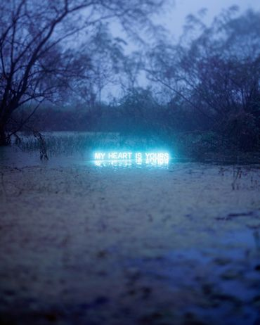 My Heart is Yours by Jung Lee, 2010. Photography and Neon.