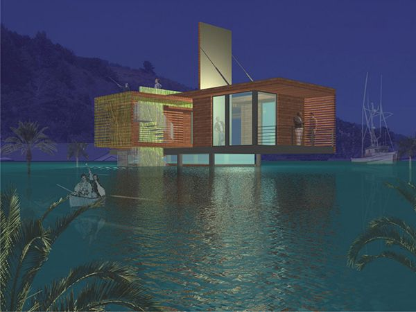 Ingenious House Design With High Protection Against Flooding Freshome Com Flooded House House On Stilts House Design